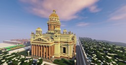 Saint Isaac's Cathedral - St. Petersburg Minecraft Map & Project