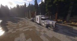 Flatbed Logging Truck Minecraft Map & Project