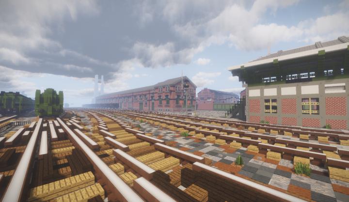The storage depot of Valvy's railyard