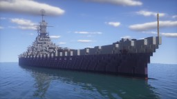 USS Minnesota BB-72 Super Battleship  | 1:1 Scale Minecraft Map & Project