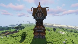 Medieval Clocktower Minecraft Map & Project