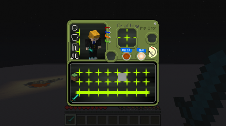 1 13] Pipboy Survival Inventory Minecraft Texture Pack