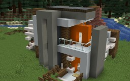 Modern Small Piston House Minecraft Map & Project