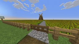 Large Farm with a Windmill Minecraft Map & Project