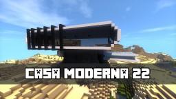 Modern House 22 / Casa Moderna 22 Minecraft Map & Project