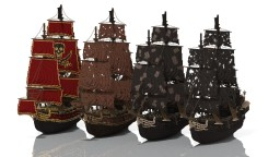 Pirates of the Caribbean ships Minecraft