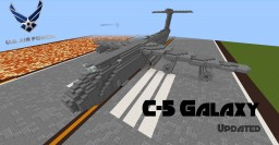 C-5 Galaxy I Avion de transport Minecraft Map & Project