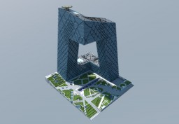 China Central Television Building, Beijing China Minecraft Map & Project