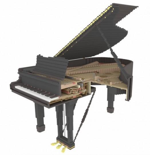 8x10 Chunks Grand Piano - schematic Minecraft Project