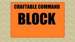 Craftable Command Block (DATA PACK) Minecraft Map & Project