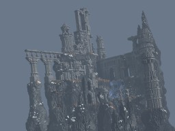 Abandoned city on a rock Minecraft