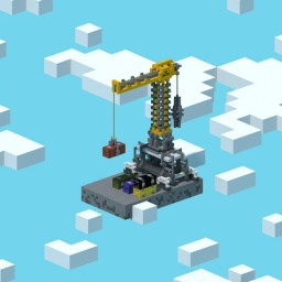Industrial Crane with Containers Minecraft