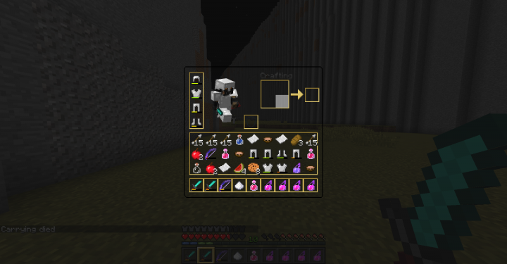 Transparent inventory GUI
