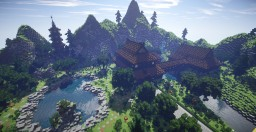 Dojo-Japanese gardens and buildings Minecraft Map & Project