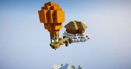 Flying House Minecraft Map & Project