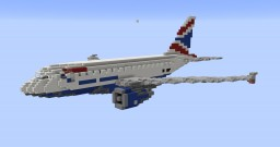 F'n'A Gaming Airbus A318 British Airways Minecraft Map & Project