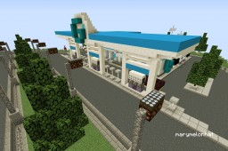 "Fuel Station ""G"" Minecraft Map & Project"