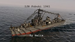 IJN Fubuki 1941 | 1:1 scale Special Type Destroyer Minecraft Map & Project