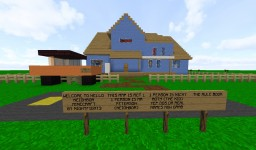 HELLO NEIGHBOR ACT 1 HOUSE REPLICA/MINIGAME Minecraft Map & Project