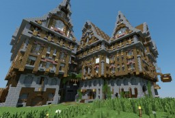Medieval Urban Manor [Full Interior] Minecraft Map & Project