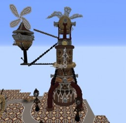 WIP Steampunk Build Minecraft Map & Project
