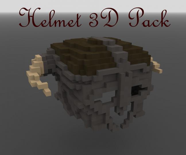 Helmet 3D Pack [DOWNLOAD] Minecraft Texture Pack