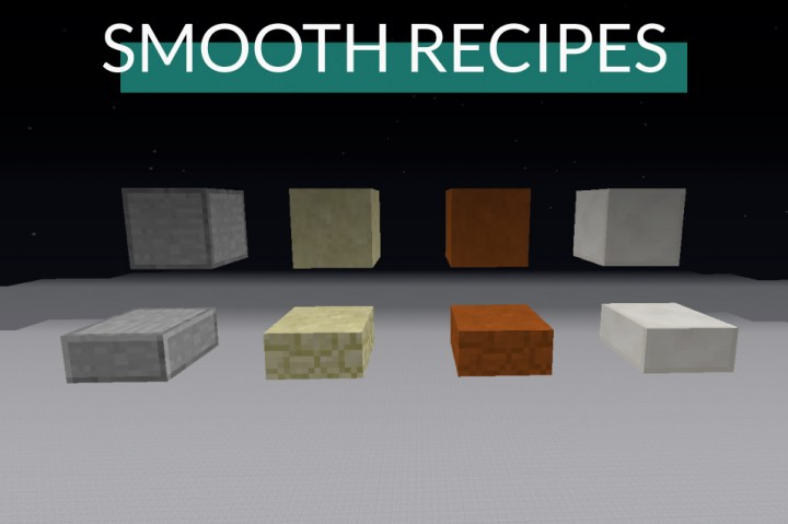 Smooth Recipes Minecraft Data Pack