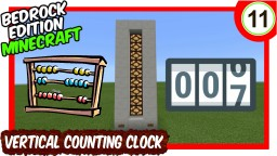 Vertical Counting Clock Bedrock Edition Minecraft Map & Project
