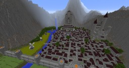 Lorthiag, a LOTR inspired city Minecraft Map & Project