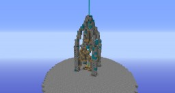Cyan server spawn temple (small) idea Minecraft Map & Project