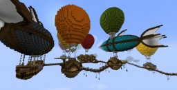 Sky Sanctuary: Balloon City Resource Minecraft Map & Project