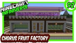 """Redstone Chorus Fruit Farm"" [92] Minecraft Bedrock Infiniverse Minecraft Map & Project"