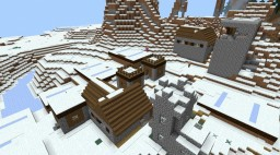 Snowy Village Survival With Easter Eggs For PE Only Minecraft