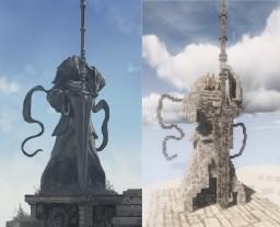Nameless king statue Minecraft