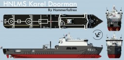 Zr.Ms. Karel Doorman A833 - Royal Netherlands Navy - 1:1 scale Minecraft
