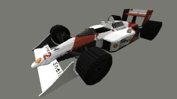 McLaren MP4/4 - scale 64:1 Minecraft Map & Project