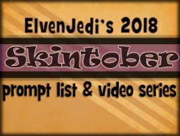 SKINTOBER | prompt list & video series Minecraft Blog Post