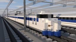 0 Series Shinkansen Bullet High-speed Train Minecraft Map & Project