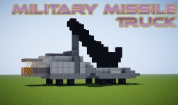 MILITARY MISSILE TRUCK Minecraft Map & Project