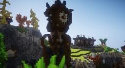 An Elven Oriental Clock Tower Experiment Minecraft Map & Project