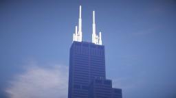 Willis, Sears Tower, Chicago illinois USA Minecraft