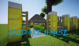 GOLD ORE HOUSE (+Yard, Tennis Court, Pool, Motorcycle, Playground) Minecraft Map & Project