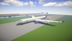 "Boeing 757-300 ""Aeroflot"" Minecraft Map & Project"
