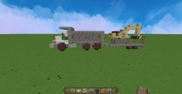 SMALL MACK DM DUMP TRUCK V1 + TRAILER + MINI EXCAVATOR Minecraft
