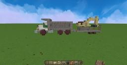SMALL MACK DM DUMP TRUCK V1 + TRAILER + MINI EXCAVATOR Minecraft Map & Project