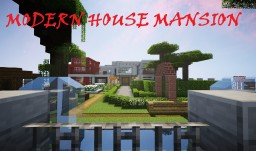 MODERN HOUSE MANSION! +Yard, Gazebo, Basketball Court, Pool, ETC Minecraft Map & Project