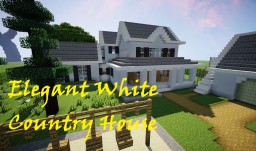 ELEGANT WHITE COUNTRY HOUSE +Yard Minecraft Map & Project