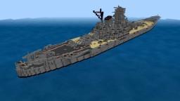 IJN Yamato Japanese battleship 1:1 scale Minecraft