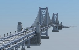 Ben Franklin Bridge 1:1, Philadelphia, PA Minecraft Map & Project
