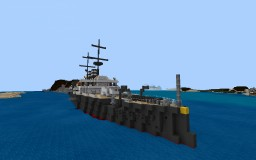 IJN utzuki a fictional japanese pre dreadbought battleship Minecraft Map & Project